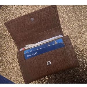 LONGCHAMP LEATHER CARD MINI Wallet GORG LUX RARE